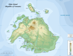 Location of Hideaway Island in Mele Bay, west Efate