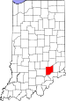 Map of Indiana highlighting Jennings County.svg