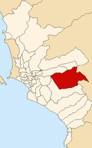 Cieneguilla - Image: Map of Lima highlighting Cieneguilla