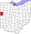 State map highlighting Mercer County
