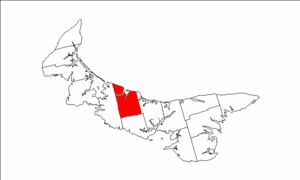 Grenville Parish, Prince Edward Island - Image: Map of Prince Edward Island highlighting Greenville Parish