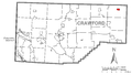 Map of Spartansburg, Crawford County, Pennsylvania Highlighted.png