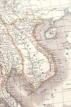 Bản đồ cương vực Việt Nam năm 1829