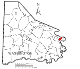 Map of Wickerham Manor-Fisher, Washington County, Pennsylvania Highlighted.png