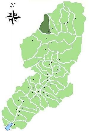 Monno - Location of Monno in Val Camonica