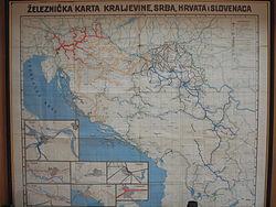 Karta Yugoslavia.Yugoslav Railways Wikipedia