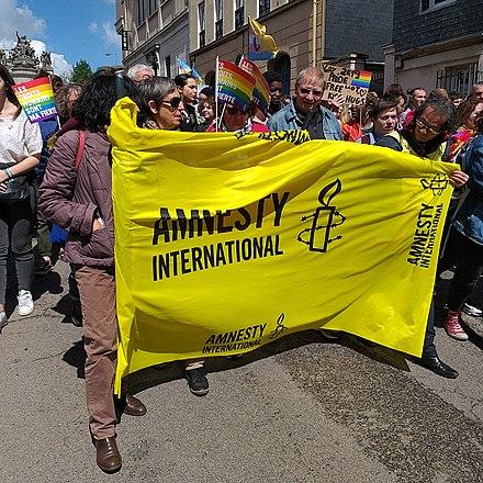 Amnesty International sign in Rouen, 4 May 2019 Marche des fiertes rouen 20190504 - amnesty international.jpg