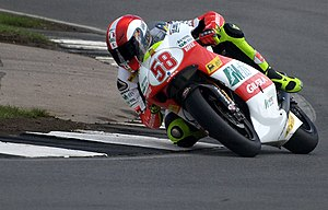 Marco Simoncelli - Simoncelli at the 2009 British Grand Prix at Donington Park