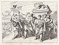 Marcus Junius Brutus en de andere samenzweerders Marco Giunio Bruto con li suoi Compagni Congiurati, dopo avere ucciso Giulio Cesare nel Senato, si mostrano al Popolo con l (..) (titel op object) Geschiedenis van het R, RP-P-1929-259.jpg