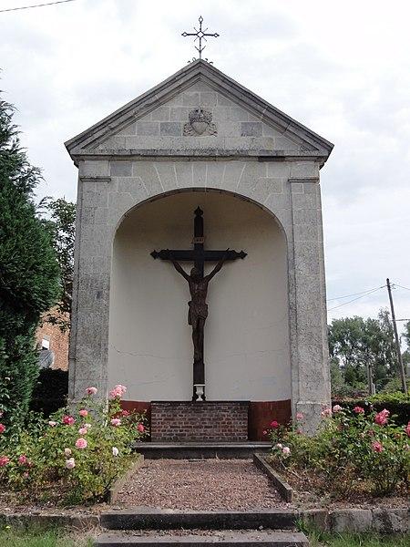 Maresches(Nord,Fr) chapelle du calvaire.