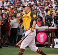 Mark Trumbo competes in semifinals of '16 T-Mobile -HRDerby. (28285836510).jpg