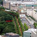 Marking of the former wall's location near Brandenburg Gate.JPG