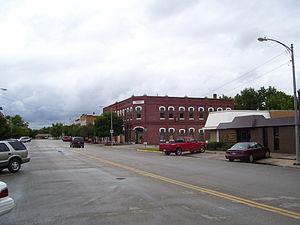 Marquette, Kansas - Image: Marquette Kansas Library block