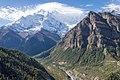 Marsyangdi valley with Annapurna II - Annapurna Circuit, Nepal - panoramio.jpg