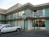 Le balcon du Lorraine Motel où a été assassiné Martin Luther King, maintenant le site du musée national des droits civiques.