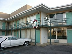 The Lorraine Motel, where Rev. King was assassinated, now the site of the National Civil Rights Museum