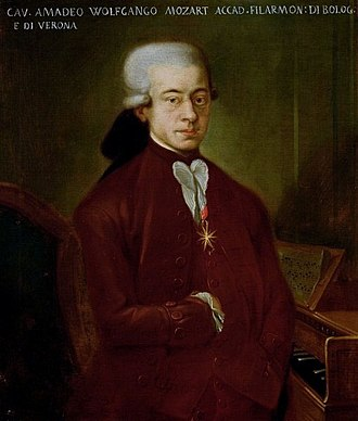 Societal and cultural aspects of Tourette syndrome - Wolfgang Amadeus Mozart in 1777, aged twenty-one.  Speculation that he may have had Tourette's is not based on reliable evidence.