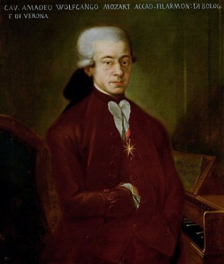 In 1767, the 11-year-old composer Wolfgang Amadeus Mozart survived a smallpox outbreak in Austria that killed Holy Roman Empress Maria Josepha, who became the second consecutive wife of Holy Roman Emperor Joseph II to die of the disease, as well as Archduchess Maria Josepha. (See Mozart and smallpox.) Martini bologna mozart 1777.jpg