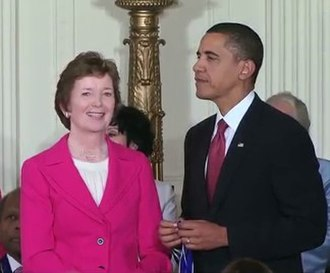 2009 in Ireland - Former President Mary Robinson received the U.S. Presidential Medal of Freedom from U.S. President Barack Obama