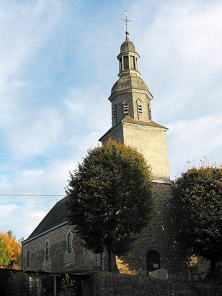 Masbourg   (Belgium), Saint Ambrosius' church (1711).