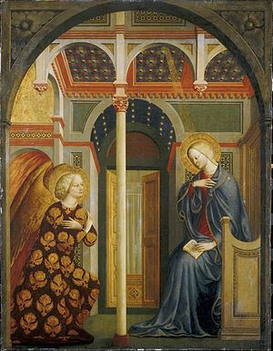 1430s in art - Image: Masolino Annunciation