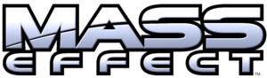English: Mass Effect logo, cropped in Photoshop.
