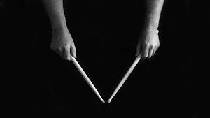 Matched grip - Matched grip used in drumming.