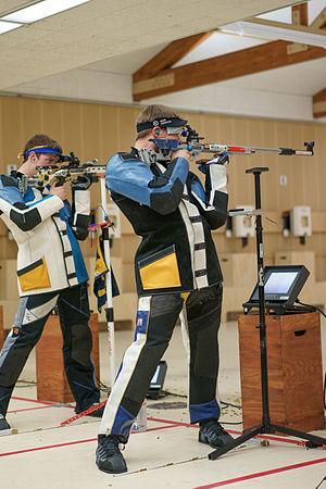 ISSF 50 meter rifle three positions - Image: Matt emmons otc selection 2014