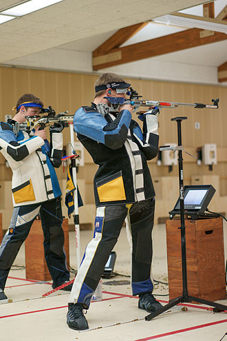 ISSF 50 meter rifle three positions - Image: Matt emmons otc selection 2014