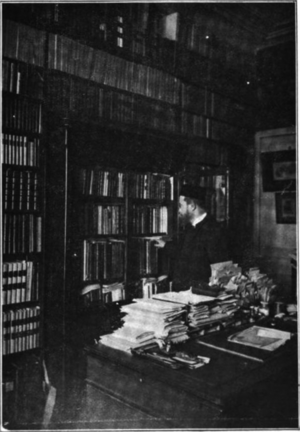 Maurice Tourneux - Jean-Maurice Tourneux in his library