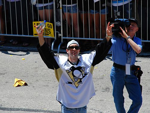 Talbot at the Pittsburgh Penguins Stanley Cup parade on June 15, 2009 MaxTalbot-2009Parade.jpg
