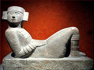 Chacmool - Maya chacmool from Chichen Itza displayed at the National Museum of Anthropology