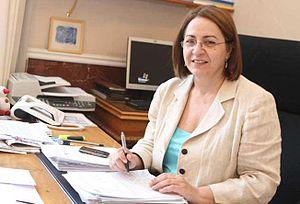 Eleni Mavrou - Mayor Eleni Mavrou at her office in central Nicosia, Cyprus