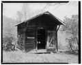 Meat shed, south elevation - Trump-Lilly Farm, Hinton, Summers County, WV HABS WVA,45-HINT.V,1-17.tif