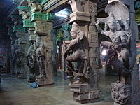 sculptures in a hall