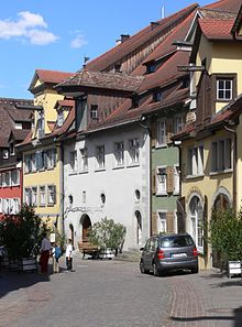 Sterbehaus von Franz Anton Mesmer in Meersburg, Vorburggasse 11, jetzt Museum Vineum Bodensee (Quelle: Wikimedia)