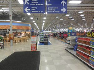 Meijer - Interior of a Meijer in Southgate, Michigan, which opened in 1994. Since this photograph, this store has been renovated.
