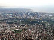 The urban sprawl of Melbourne.
