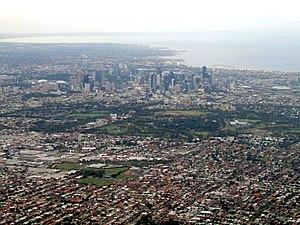 Urban sprawl - The urban sprawl of Melbourne.