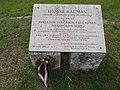 Memorial plaque to Kalman Homor (2002), Primate's Island, Esztergom, Hungary.jpg