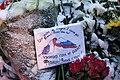 Memorial to November 2015 Paris attacks at French embassy in Moscow 10.jpg