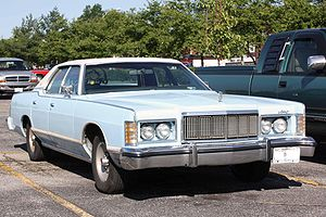 Mercury Grand Marquis - 1975-1978 Mercury Grand Marquis front bodywork. Hidden headlights are in open position