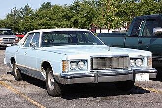 Mercury Grand Marquis - 1975-1978 Mercury Grand Marquis front bodywork. Hidden headlights are in open position