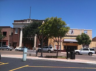 Mercedes, Texas - Downtown Mercedes in August 2010