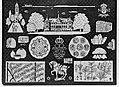 Merklap geborduurd door Koning Ingrid van Denemaken met vermoedelijk als onderwe, Bestanddeelnr 252-9268.jpg