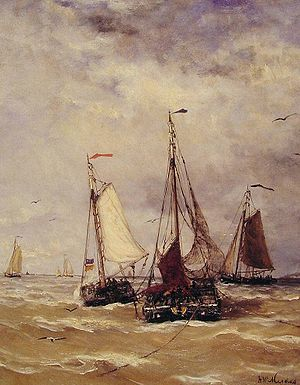 Hendrik Willem Mesdag - Preparations for departure