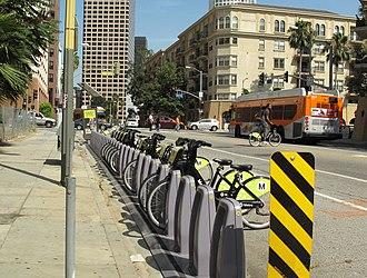 Metro Bike Share - Bike share station in Downtown LA