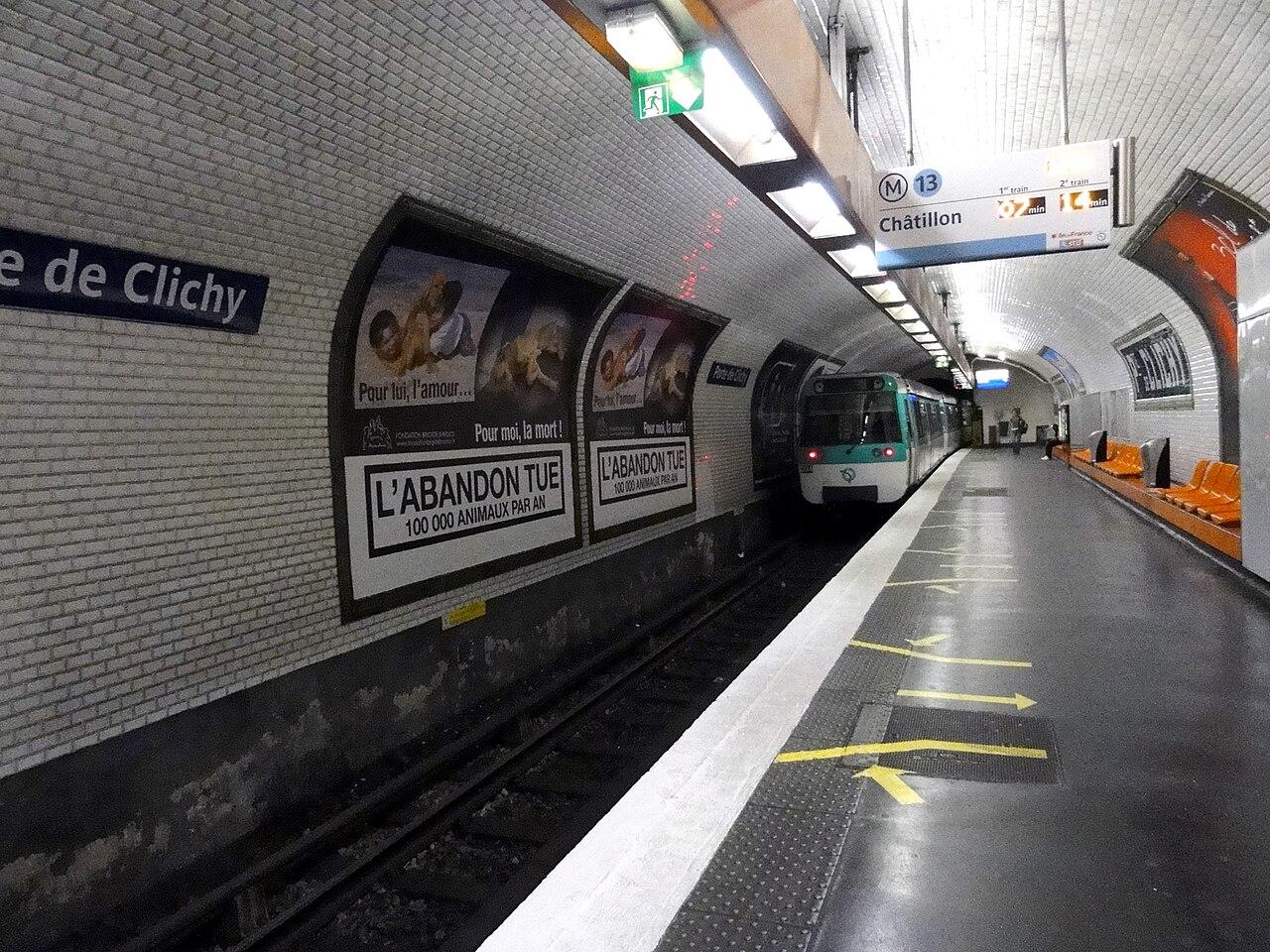 file metro de ligne 13 porte de clichy 01 jpg wikimedia commons