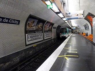 Porte de Clichy (Paris Métro & RER) - Image: Metro de Paris Ligne 13 Porte de Clichy 01