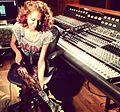 Michelle Delamor in the studio.JPG